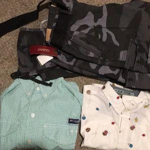 Two shirts an pants